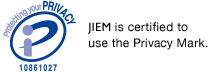 JIEM is certified to use the PrivacyMark.
